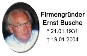 Firmengründer Ernst Busche